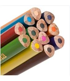 """Фото 3. Карандаши цветные Гамма """"Мультики"""", 12цв., трехгранные, заточен., картон, европодвес"""