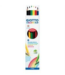 """Карандаши цветные Giotto """"Colors"""" 06цв., заточен., картон, европодвес"""