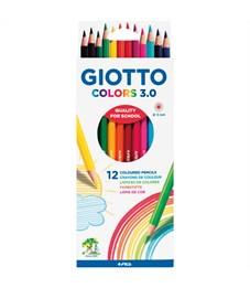 """Карандаши цветные Giotto """"Colors"""" 12цв., заточен., картон, европодвес"""