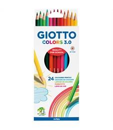 """Карандаши цветные Giotto """"Colors"""" 24цв., заточен., картон, европодвес"""