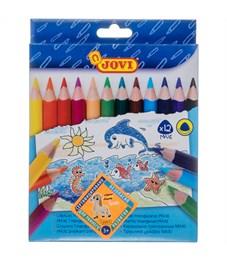 """Карандаши цветные JOVI """"Maxi"""", 12цв., трехгран., утолщенные, заточен., картон, европодвес"""