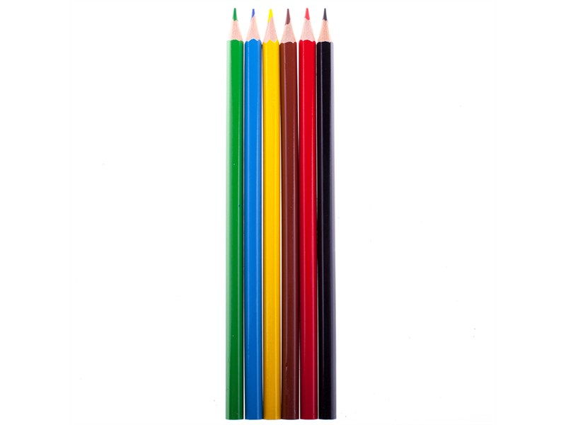 """Карандаши цветные Koh-I-Noor """"Центы"""", 06цв., заточен., картон, европодвес"""