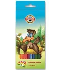 Карандаши цветные Koh-I-Noor Птицы, 12 цветов