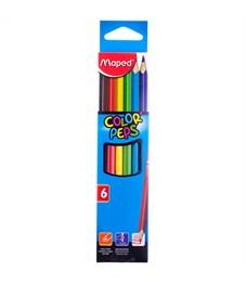 """Карандаши цветные Maped """"Color Peps"""", 06цв., трехгран., заточен., картон, европодвес"""