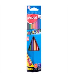"Карандаши цветные Maped ""Color Peps"", 12цв., трехгран., заточен., картон, европодвес, с точилкой"