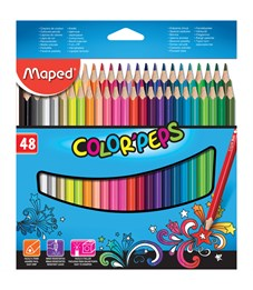 "Фото 1. Карандаши цветные Maped ""Color Pep's"", 48цв., трехгран., заточен., картон, европодвес"