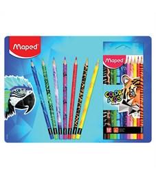"Фото 3. Карандаши цветные Maped ""Color Peps Animals"", 12цв., трехгран., заточен., картон, европодвес"