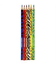 """Фото 2. Карандаши цветные Мульти-Пульти """"Зоопарк"""", 06цв., рисунок на корпусе, заточен., картон, европодвес"""
