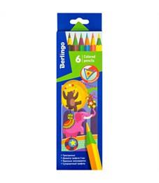 """Карандаши цветные пластиковые Berlingo """"Цирк"""", 06цв., заточен., картон, европодвес"""