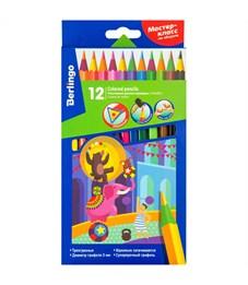 """Карандаши цветные пластиковые Berlingo """"Цирк"""", 12цв., заточен., картон, европодвес"""