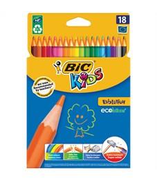 """Карандаши цветные пластиковые Bic """"Evolution 93"""", 18цв., заточен., картон, европодвес"""