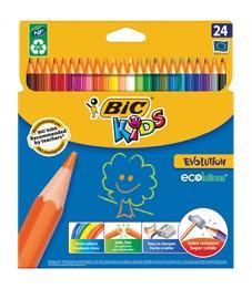 """Карандаши цветные пластиковые Bic """"Evolution 93"""", 24цв., заточен., картон, европодвес"""