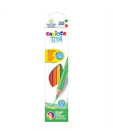 """Карандаши цветные пластиковые Carioca """"Tita"""", 06цв., заточен., картон, европодвес"""