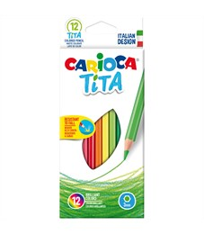 """Карандаши цветные пластиковые Carioca """"Tita"""", 12цв., заточен., картон, европодвес"""