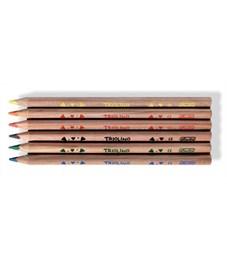 Фото 2. Карандаши цветные утолщенные трехгранные Herlitz Trilino, 6 цветов