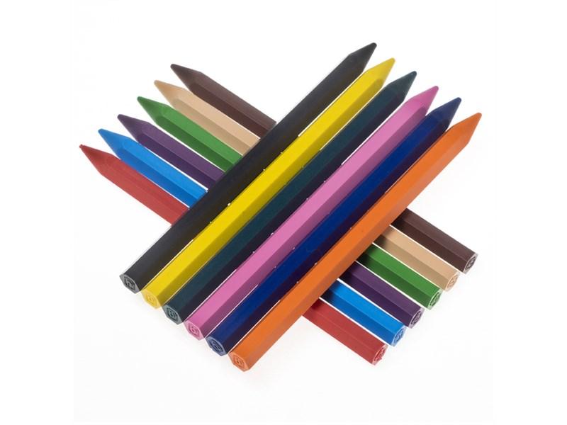 Карандаши (мелки) пластиковые JOVI 12цв., шестигранные, картон, европодвес
