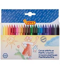 Карандаши (мелки) пластиковые JOVI 24цв., шестигранные, картон, европодвес