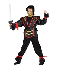Карнавальный костюм Ниндзя черный Карнавалия