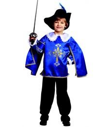 Карнавальный костюм Мушкетер синий Батик