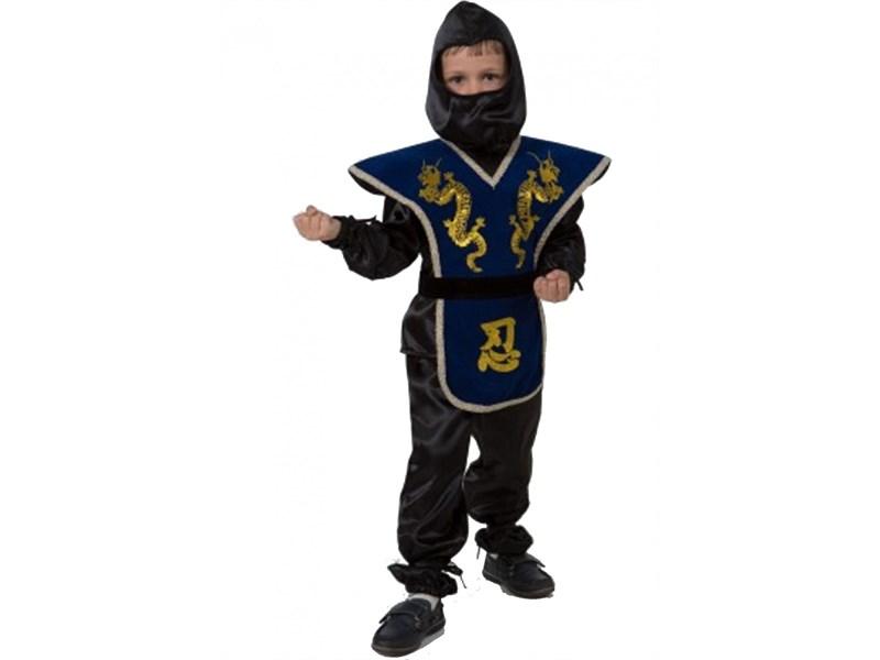 Карнавальный костюм Ниндзя синий Батик