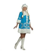 Карнавальный костюм Батик Снегурочка вышивка р.46