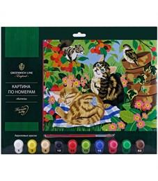 """Картина по номерам Greenwich Line """"Котята"""" А3, с акриловыми красками, картон, европодвес"""