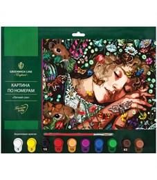 """Картина по номерам Greenwich Line """"Летний сон"""" A3, с акриловыми красками, картон, европодвес"""