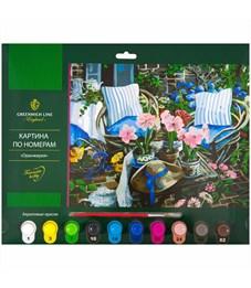 """Картина по номерам Greenwich Line """"Оранжерея"""" A3, с акриловыми красками, картон, европодвес"""