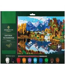 """Картина по номерам Greenwich Line """"Озеро"""" A3, с акриловыми красками, картон, европодвес"""