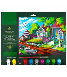 "Картина по номерам Greenwich Line ""Полдень"" A3, с акриловыми красками, картон, европодвес"