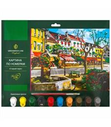 """Картина по номерам Greenwich Line """"Старый парк"""" A3, с акриловыми красками, картон, европодвес"""