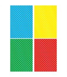 """Картон цветной А4, Апплика """"Сердечки"""", 4л. 4цв., тисн. фольгой, пакет, европодвес"""