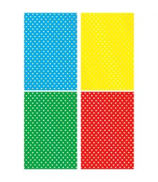 "Фото 1. Картон цветной А4, Апплика ""Сердечки"", 4л. 4цв., тисн. фольгой, пакет, европодвес"