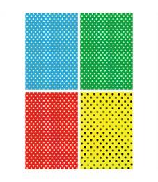 """Картон цветной с тиснением A4, Апплика """"Кружочки"""", 4л., в папке"""