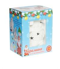 Фото 2. Керамический сувенир для раскрашивания Tukzar Снеговик с LED подсветкой