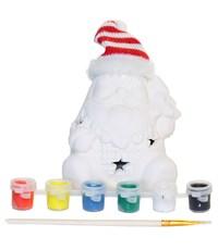 Керамический сувенир  для раскрашивания Tukzar Дед Мороз с LED подсветкой