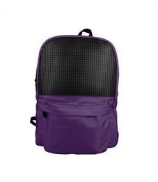 Классический школьный пиксельный рюкзак Classic school pixel backpack WY-A013 Фиолетовый