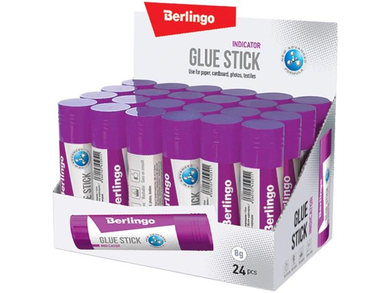 """Клей-карандаш Berlingo """"Indicator"""", 08г, с цветным индикатором"""