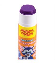 """Фото 2. Клей-карандаш Мульти-Пульти """"Енот в Японии"""", 15г, с цветным индикатором"""