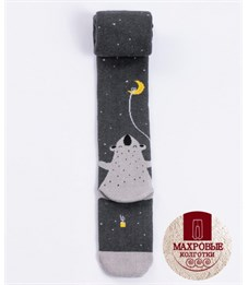 Колготки детские махровые Mark Formelle 702K-416 темно-серый меланж Медведь