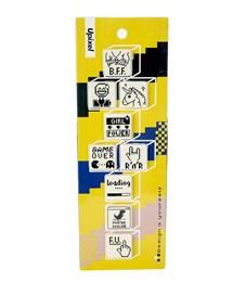 Комплект пиксельных медалей на пенал T-3X3EN01 9шт