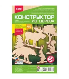 """Конструктор деревянный Lori """"Лесные животные. Набор №2"""""""