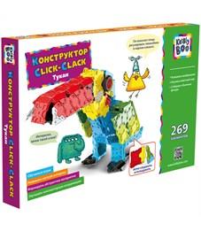 """Конструктор пластиковый Kribly Boo """"Click-Clack. Тукан"""", 269 элементов, картонная коробка"""
