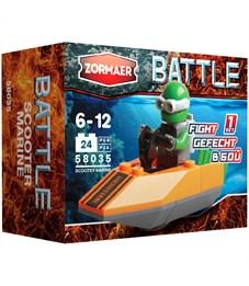 """Конструктор пластиковый Zormaer """"Battle. Морпех - скутер'', 24 элемента, картонная коробка"""
