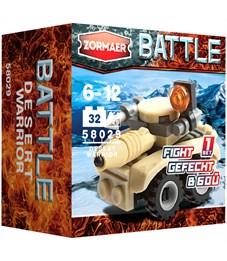 """Конструктор пластиковый Zormaer """"Battle. Воин пустыни'', 32 элемента, картонная коробка"""