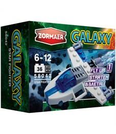 """Конструктор пластиковый Zormaer """"Galaxy. Звездный истребитель'', 36 элементов, картонная коробка"""