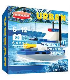 """Конструктор пластиковый Zormaer """"Urban. Морской защитник"""", 22 элемента, картонная коробка"""