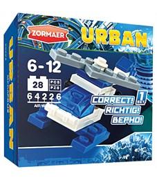 """Конструктор пластиковый Zormaer """"Urban. Воздушный дозор"""", 28 элементов, картонная коробка"""
