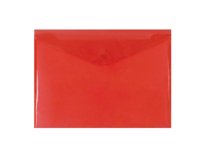 Конверт на кнопке inФОРМАТ А4, красный