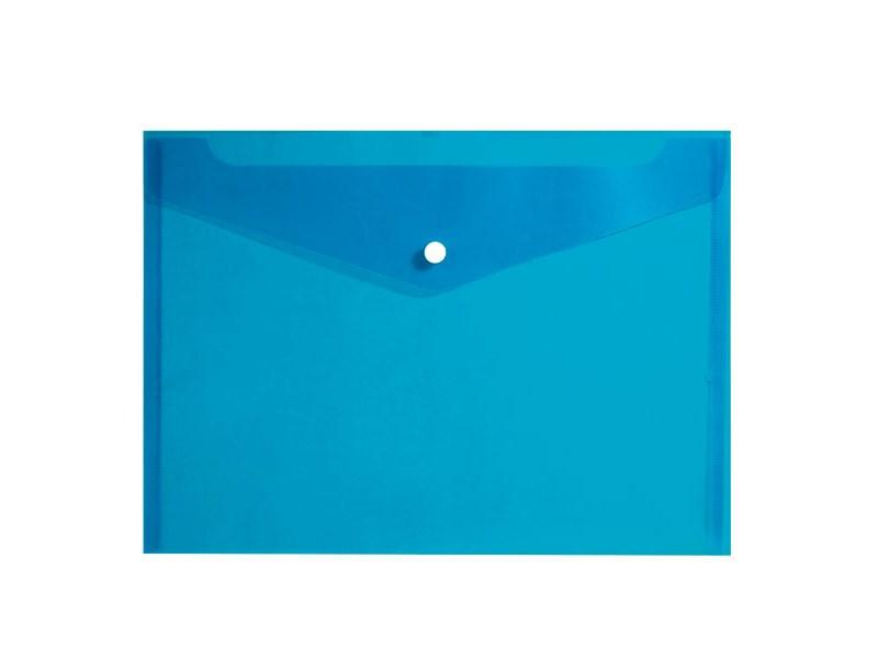 Конверт на кнопке inФОРМАТ А4, синий